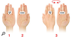 The iRing has a different pattern on each side, allowing up to six parameters to be controlled