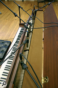 A range of close-mic positions used for some of the on-line audio examples that accompany this article.