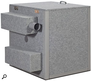 The optional 'exhaust pipes' allow heat from the amp to be removed from the enclosure without compromising the degree of isolation.