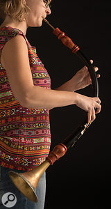 Oboe da caccia player Katharina Humpel.