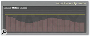 The Level screen allows the overall frequency balance of the output to be adjusted.