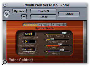 Leslie speaker emulators like Logic Pro's Rotary are a well-known processing trick for organs and guitar sounds, but they can also add that special something to vocals, and can even make a vocal line sound like an instrument.