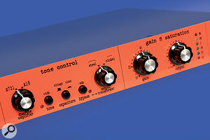 The tone control section boasts plenty of tone-shaping options, such as the selection of alternative op-amps, capacitors and output transformers.