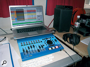 In this picture you can see the SADiE LRX2 recording system used on this session in more detail.