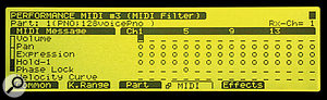 Figure 1. If you want to avoid MIDI Continuous Controller number seven messages messing with your Part volume levels, you can switch off reception of these MIDI messages on a per-channel basis.