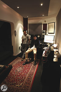 Rodaidh McDonald (right) with XL Recordings boss Richard Russell, in the label's in‑house studio where xx was recorded.
