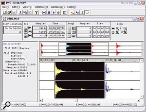 The 01X comes with an impressive bundle of Windows software including this Tiny Wave Editor stereo editor.