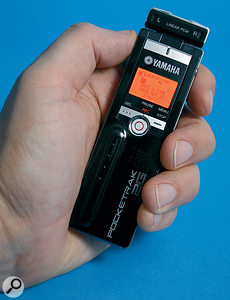 Pocketrak by name and nature... The Yamaha 2G is probably the smallest CD-quality recorder available.