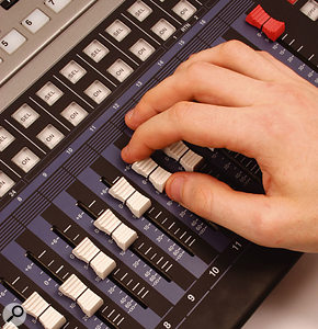 The fader can now be raised back to its highest-resolution position.