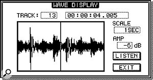 The improved Wave Display now lets you fine-tune your edit points by ear as well as by eye.