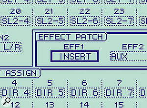 ...and one of the effects processors can be switched to act as an insert effect.