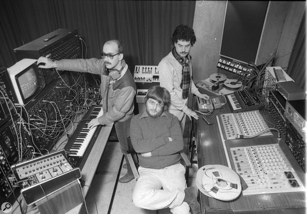 L-R: Fred Gardner, Adrian Wagner and Jeff Boult in Adrian's studio.