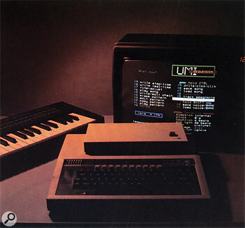 UMI-2B MIDI sequencer running on a BBC B Micro computer.