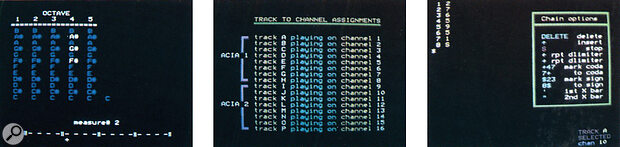 Erase, Channel/track assignment, Write/edit chain.