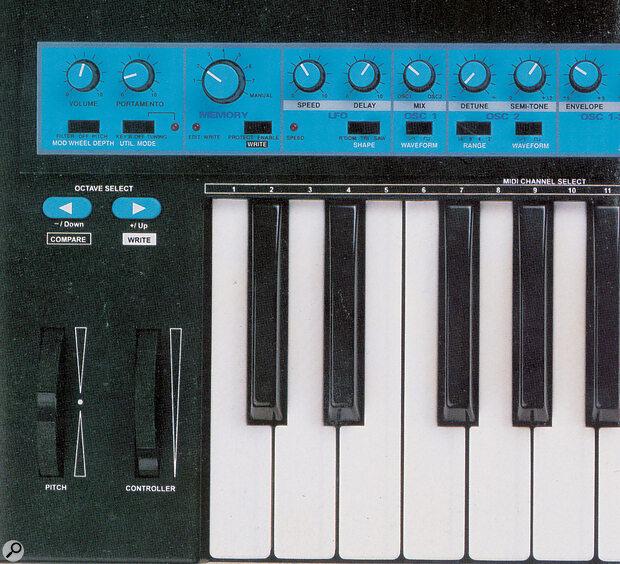 Novation BassStation oscillator controls.