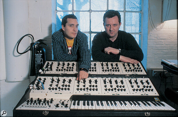 The Grid with their Oberheim.