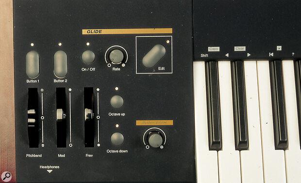 Waldorf Wave performance controls.