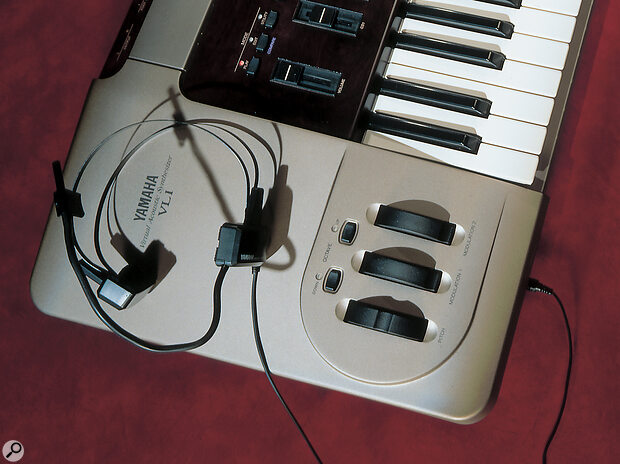 Yamaha VL1 with its BC1 breath controller headset.