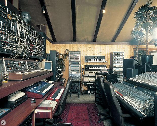 Klaus Schulze's studio 1996.