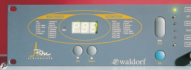 Waldorf Pulse: No LCD means patch numbers, not names.