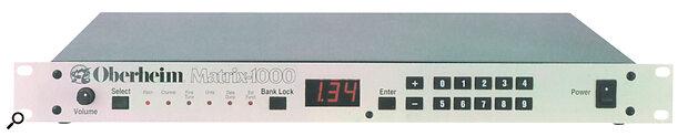 Oberheim Matrix-1000 rackmount sound module.