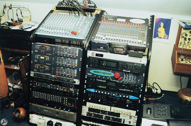It's not all Waldorfs, you know... a fair mix of gear from Alesis to Zoom units fills Paul's rack alongside his Pulses and Microwave II.