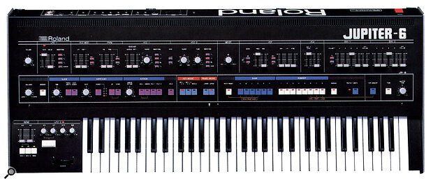 Roland Jupiter 6 (viewed from front panel).