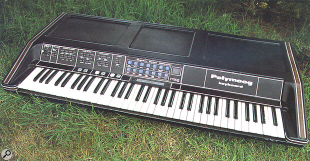 The 1978 Polymoog keyboard, a preset‑only version of the original instrument.