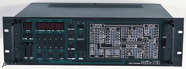 Crumar's 3U Bit 01 rackmount synth expander.