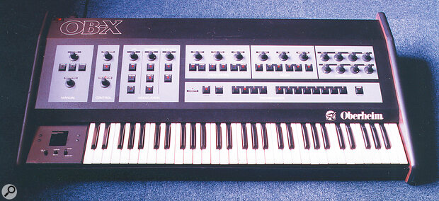 The Oberheim OBX. Picture courtesy of the EMIS Synthesizer Museum.