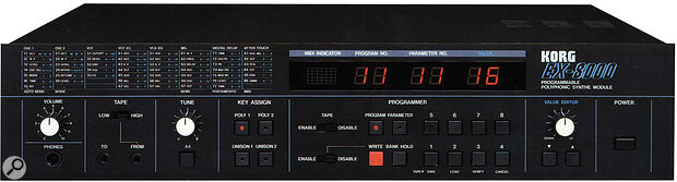 The EX8000 is the rackmount version of the DW8000.