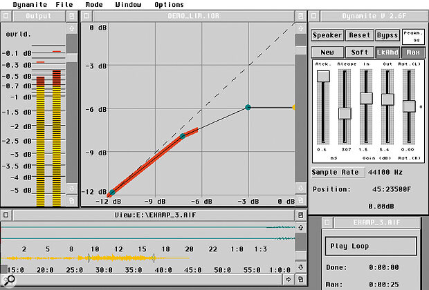 Sound Pool's Native DSP Mastering Suite features, amongst other things, a multi‑dynamics tool (left) and a real‑time denoiser (below).
