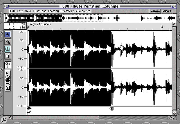 Figure 2): In order to turn your sample into a smooth loop, you may have to do some trimming in the Sample Edit window.