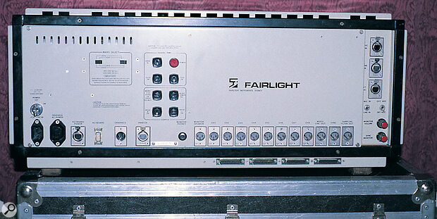 The bit of the Fairlight you somehow never saw on Top Of The Pops — the substantial mainframe section, showing its impressive array of connectors.