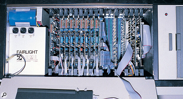 The Fairlight's computing power came from a number of discrete cards, which slotted inside the mainframe.