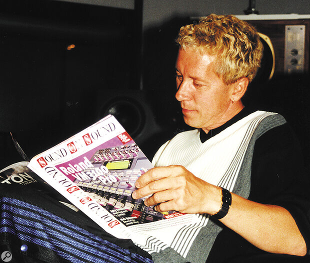 Like many pros, when taking a break from mixing, Paul Hardcastle likes to read his personal copy of Sound On Sound magazine.