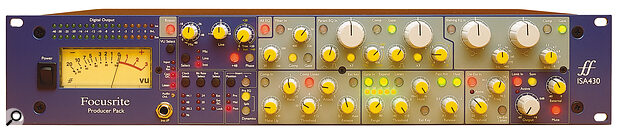 Focusrite ISA430 Producer Pack front panel.