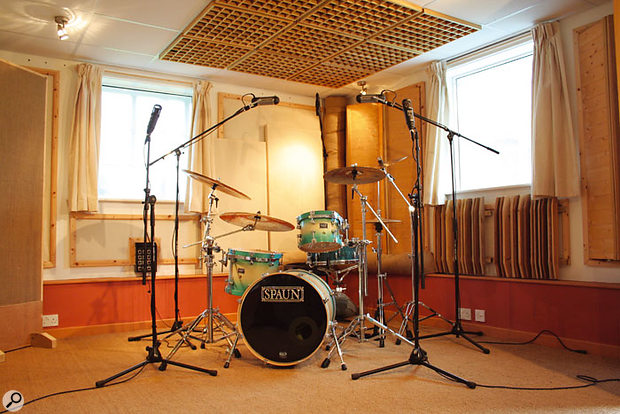 The live room at The Hatch Studio, pictured here after the Studio SOS makeover.
