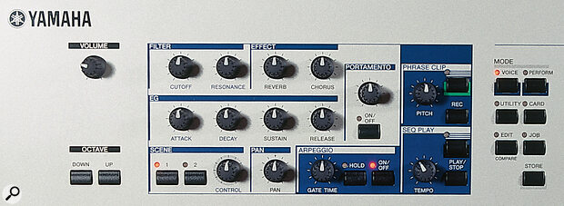 Like the previous CS synths, the 6x offers plenty of scope for real‑time manipulation of effects, filters and envelopes via its generous complement of knobs.