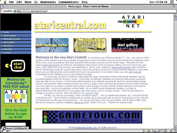 The Atari Central web site.