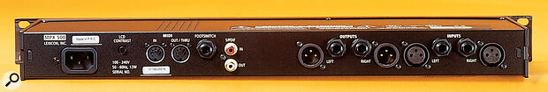 The MPX500 features balanced analogue I/O on jacks and XLRs, as well as S/PDIF‑format digital I/O.