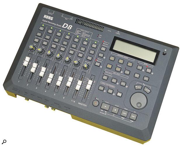 Korg's D8 digital multitracker has a built‑in mixer...