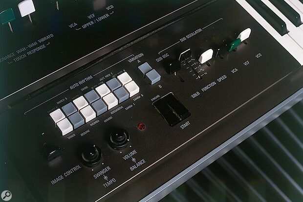 The GX1's built‑in rhythm section — it was part of Yamaha's organ range, after all..