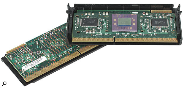 The performance of different processor designs, such as Intel's Celeron (left) and AMD's K6 (below) cannot be directly inferred from their clock speeds.