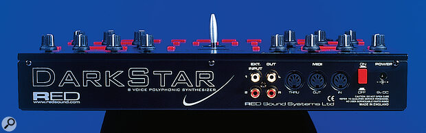Dark Star's rear panel connections.