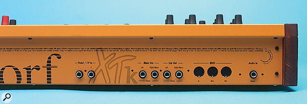 Though the XTk's audio input is labelled as stereo, it has yet to be implemented as such.