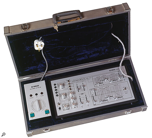 The optional programmer (right) and Tone Module Setting Box (left) in their case.