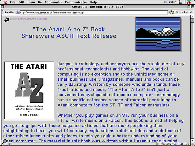 The Atari A to Z must be the most cost‑effective source of Atari information around, at just £5 for registration.
