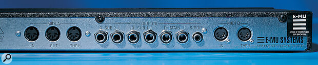 Just like the Proteus 2000, the Virtuoso 2000 has three stereo analogue outputs as standard, plus a S/PDIF digital output.