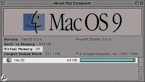 Take a Mac OS 9.0.4 system of 69Mb...